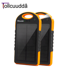 Tollcuudda солнечные панели Power Bank 10000 мАч внешнее Celular зарядное устройство Cargador для Xiaomi телефон pover банка для iPhone 5 6S
