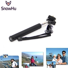 SnowHu for Gopro Accessories Handheld Stick Telescopic Monopod Mount Adapter Tripod go pro Hero 5 4 3+ sjcam xiaomi yi GP55