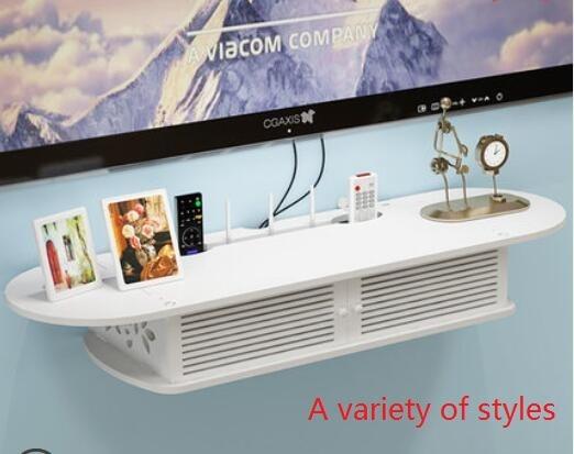 US $78.0 |TV wand set top box halter rack freies wohnzimmer dekoration  schlafzimmer wand router lagerung bord blumentopf lagerregal in TV wand ...