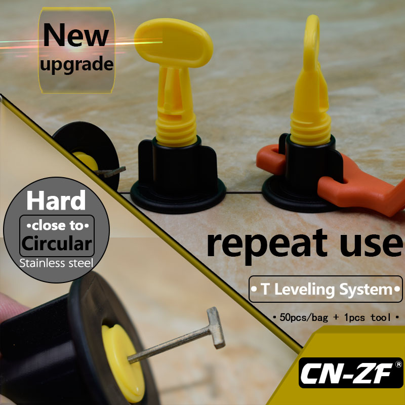 Hot Sale Cn Zf 50 Setsbag 1pcs Tool Plastic Flat Ceramic Leveler