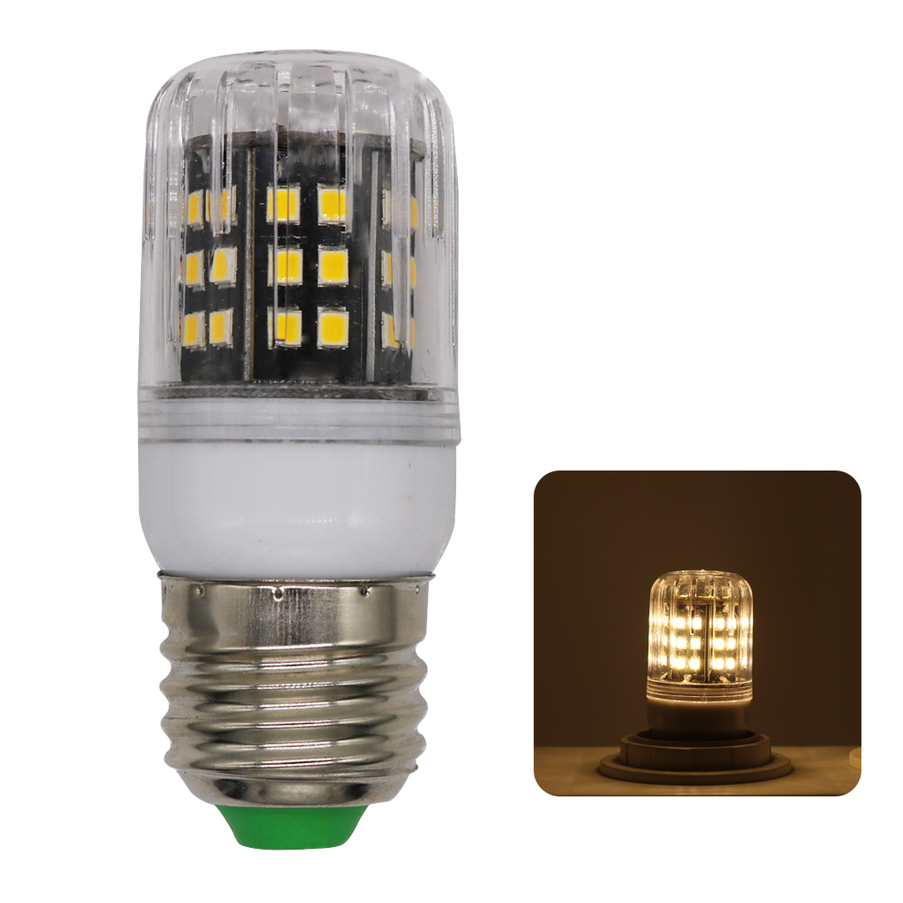 1Pcs No Flicker Aluminum Radiator E27 3W LED Corn light lamp No Strobe AC 220V 2835 SMD LED Spotlight Bulb For Indoor lighting