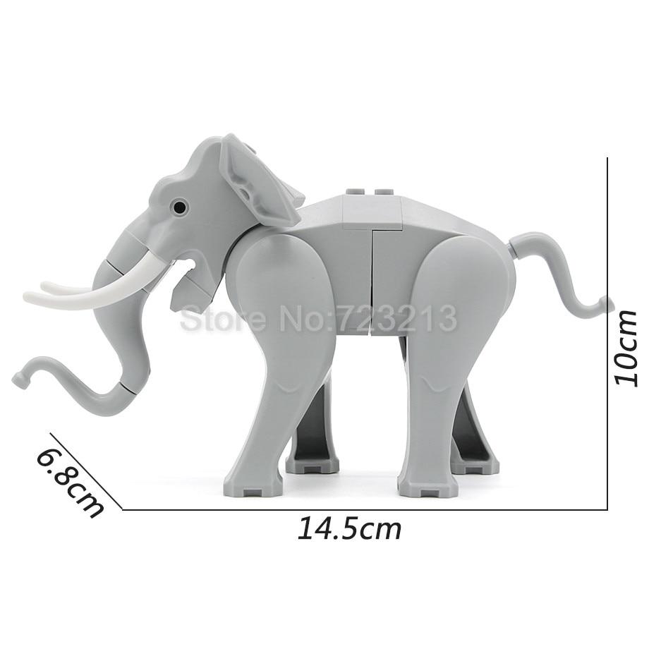 Single Hot Legoingly Elephant Figure Cute Animal Building Block