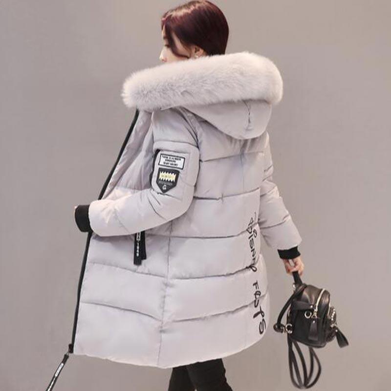 US $32.98 49% OFF|Frauen winter jacke plus größe 2020 armee grüne damen jacke dickes Fell Mit Kapuze lange Unten Baumwolle Gepolsterte Weiblichen