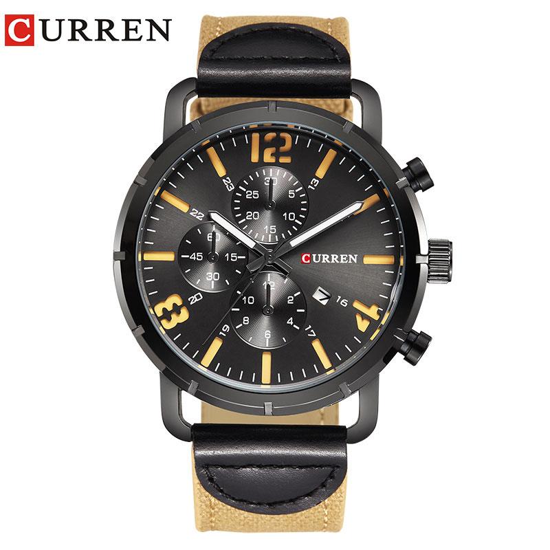 CURREN watches men Top Brand fashion watch quartz watch male relogio masculino men Army sports Analog Casual 8194 цена 2017