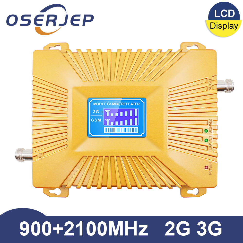 Dual Band Repeater GSM 900 2100 Repeater 2g 3g Booster WCDMA 2100MHz GSM 900mhz 3g W