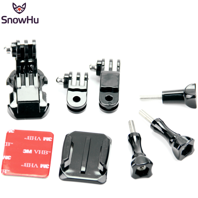3-Way Adjustable Pivot Set Curved Adhesive Side Mount Helmet Front for Hero 4 3+ 2 1 B model Gopro Accessories GP64