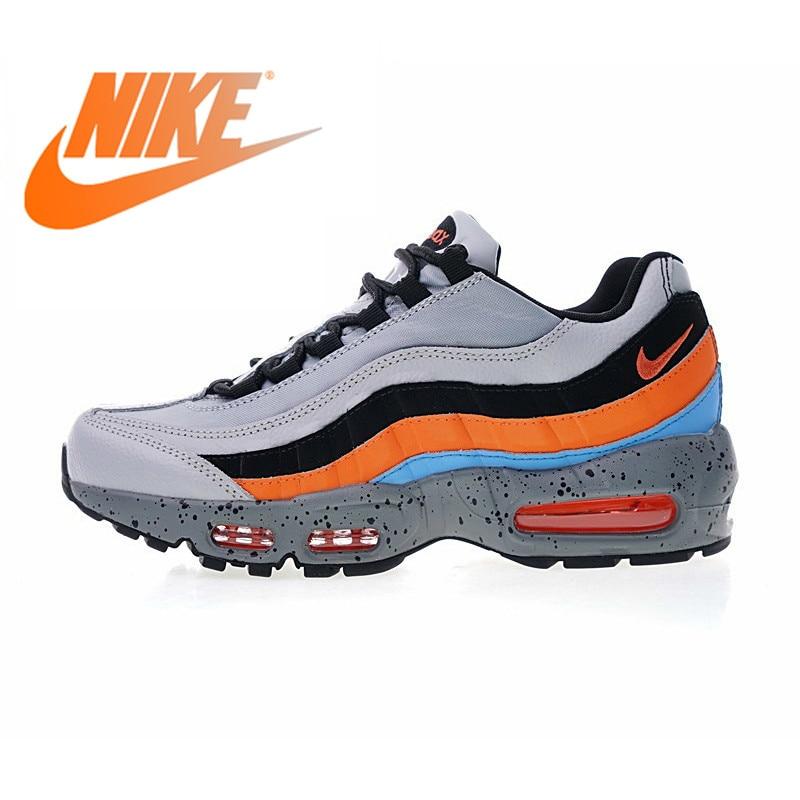 Original authentique NIKE Air Max 95 Premium chaussures de course pour hommes baskets de plein Air léger Absorption des chocs 538416 015