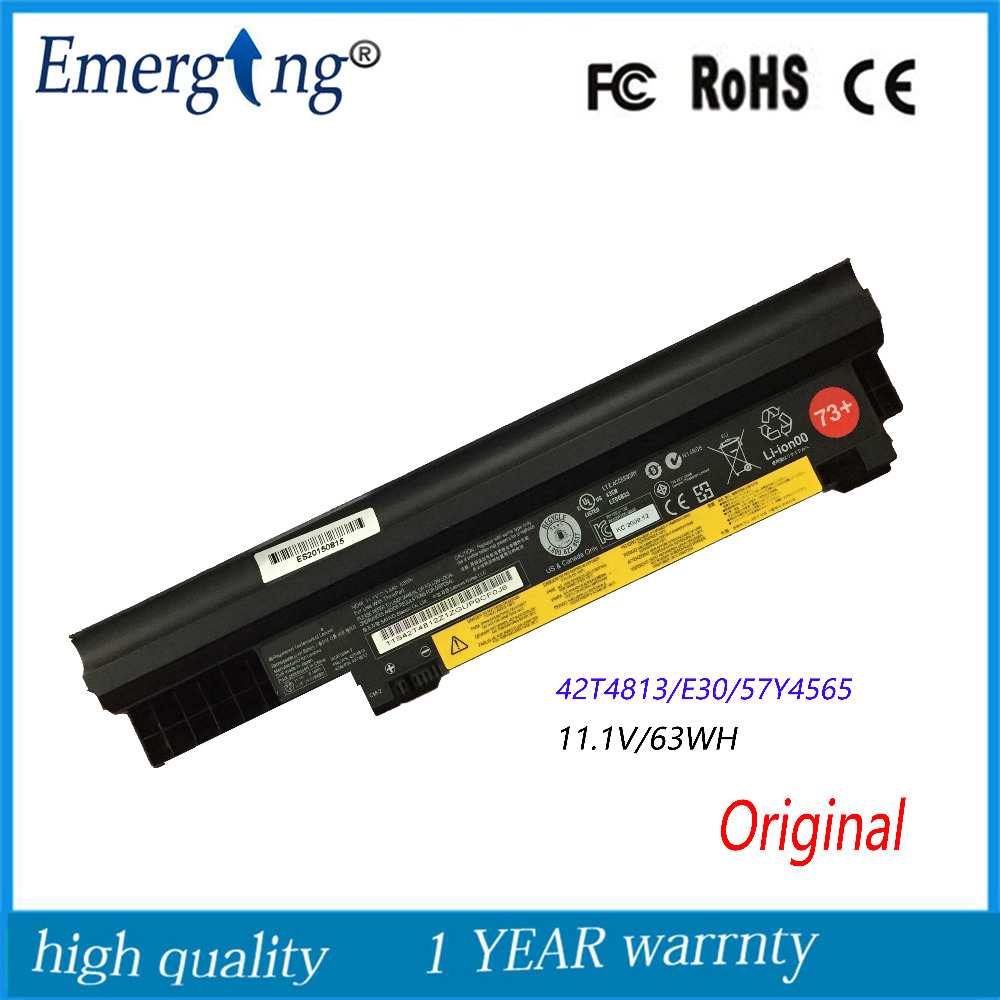 11.1V 63Wh Original New Laptop Battery For Lenovo E30 E31 0196RV7 42T4814 42T4813 0196-3EB 0196RV 5 6 42T4812