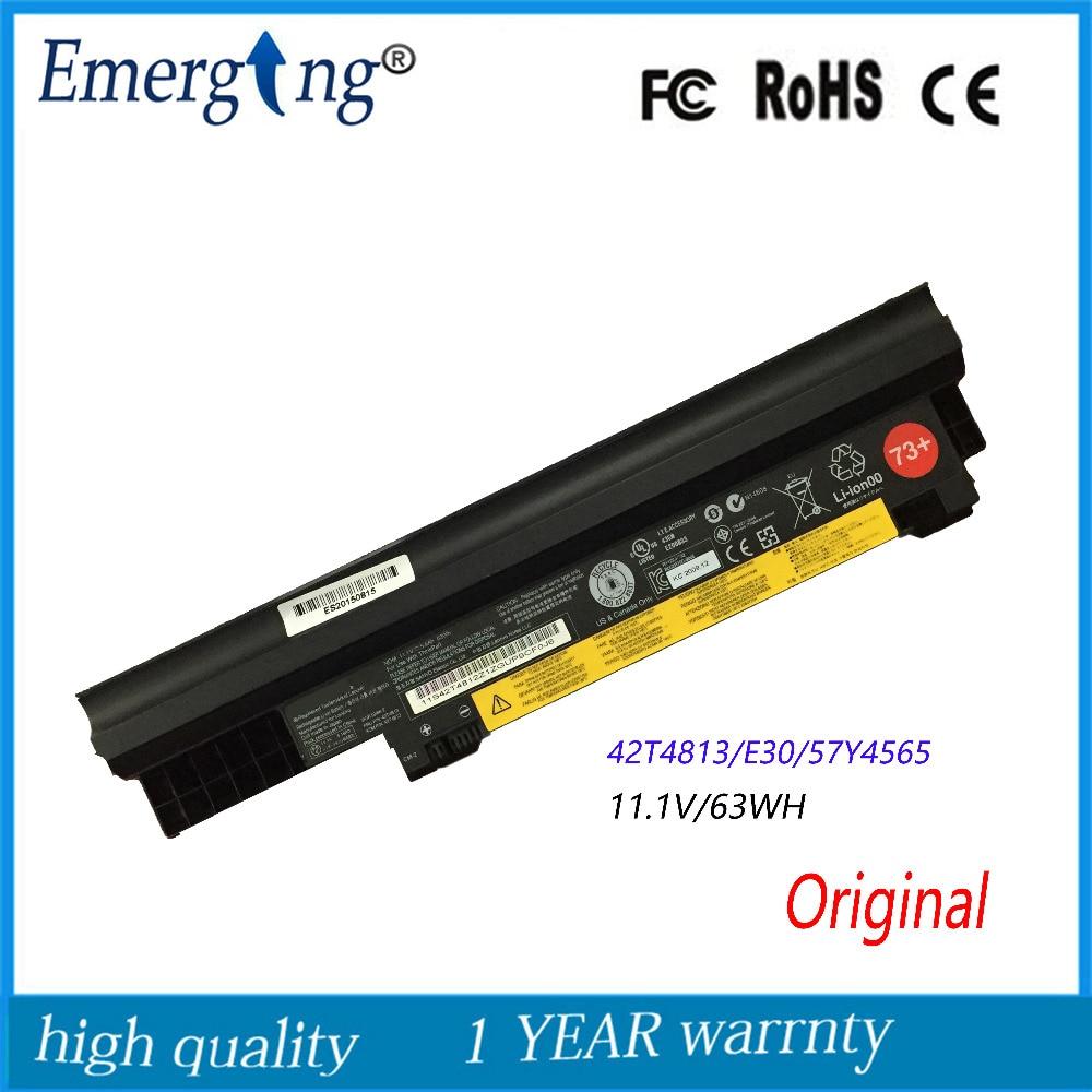 11.1V 63Wh Original New Laptop Battery For Lenovo E30 E31 0196RV7 42T4814 42T4813 0196-3EB 0196RV 5 6 42T4812