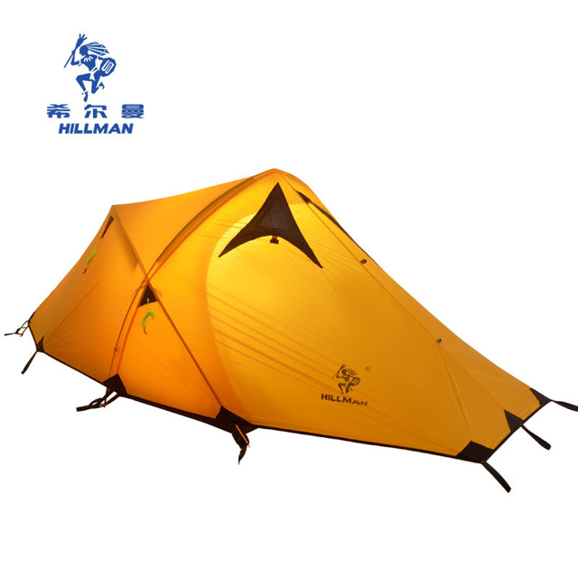 2018 HILLMAN CAMPING TENT HIGH MOUNTAIN HIGHLAND SNOW MOUNTAIN DOUBLE LAYERS SILICONE COATING TENTS SUPER WINDPROOF RAINPROOF large double layers folding umbrella windproof rain gear