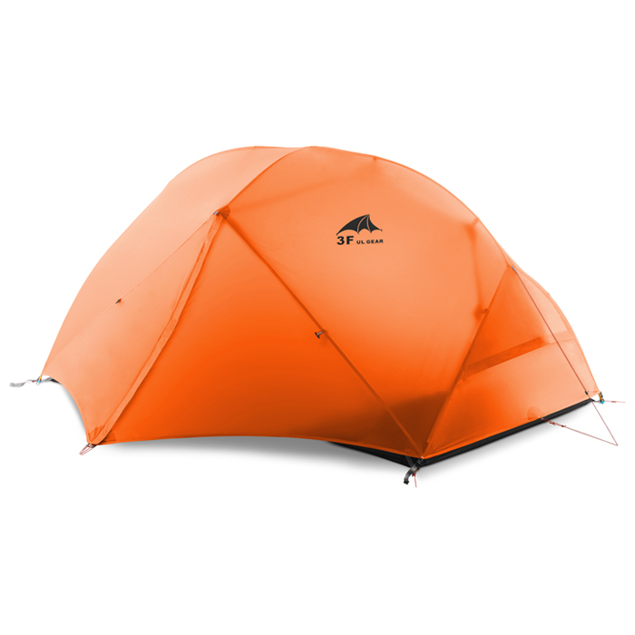 3F outdoor Piaoyun2 2 person 15D silicon coated three season double layer camping tent outdoor double layer 10 14 persons camping holiday arbor tent sun canopy canopy tent