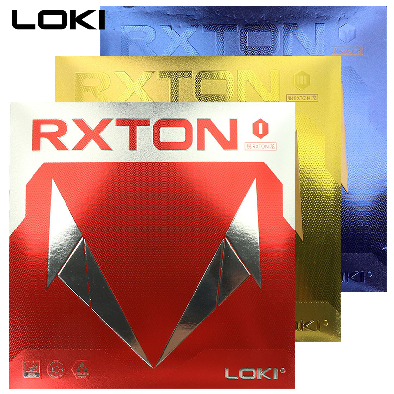 LOKI RXTON1 RXTO3 5 ITTF Approved Semi Sticky Table Tennis Rubbercake Sponge Ping Pong Rubber Fast Attack Red Pingpong Rubber