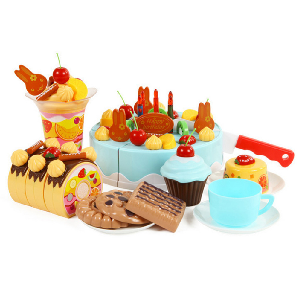 Lovely Play Toy Diy Tool Children Play Toy Birthday Cake Slice Cut