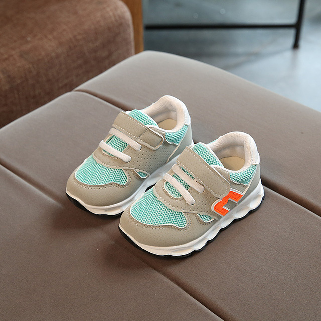 2018 Hook*Loop all season baby shoes high quality cool baby sneakers excellent cute cool sports running baby first walkers