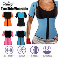Palicy Neoprene Sauna Shaper Women Waist Cincher Bodysuit Reversible Slimming Underwear Body Suit Sweat Corset With