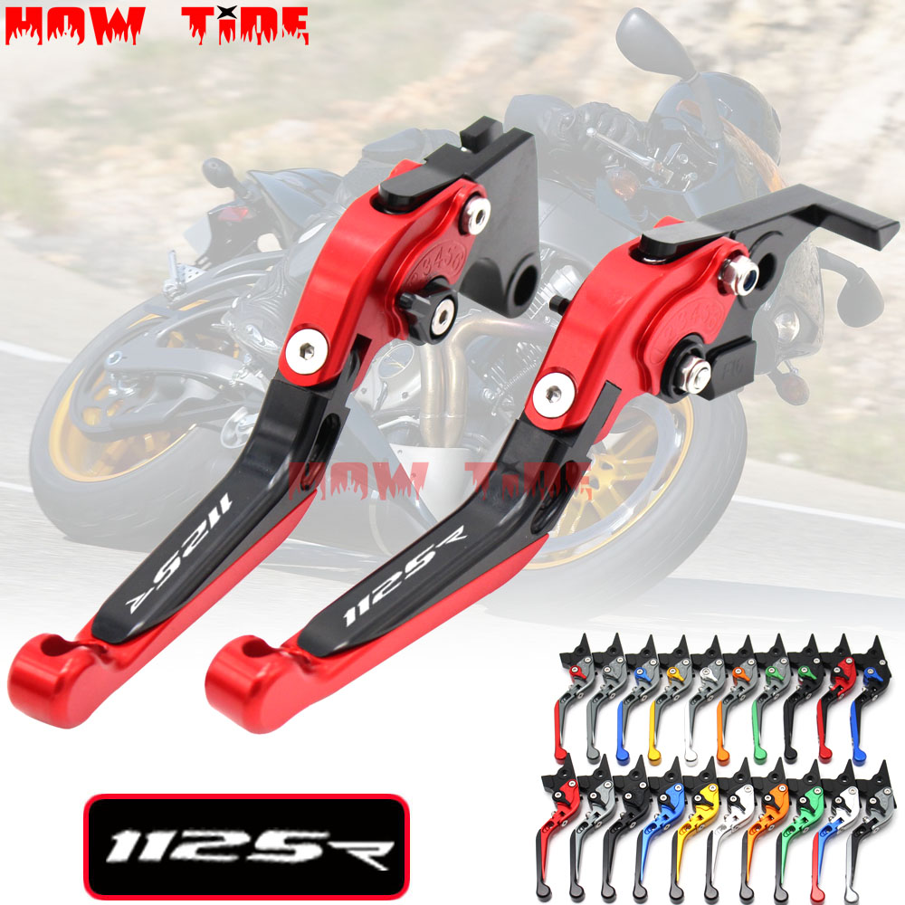 20 Colors CNC Adjustable Folding Extendable Motorcycle Brake Clutch Levers For <font><b>Buell</b></font> 1125R <font><b>1125</b></font> R 2008 2009 image