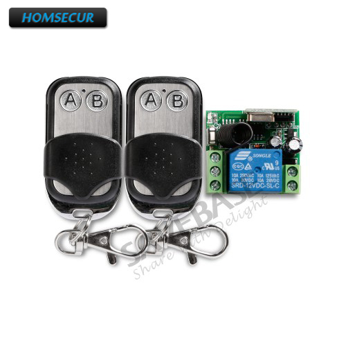 HOMSECUR 2Pcs Wireless Remote Control Remote Switch For Door Lock Access Control System saful 12v electric lock remote control remote unlock door access switch electric control lock gateway access control system