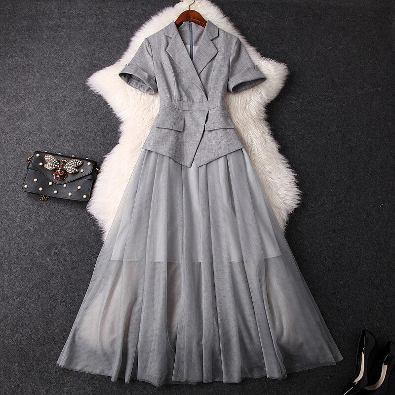 Work Office lady Dress Runway 2019 new Superior quality ladies women elegant club Mesh dress Casual