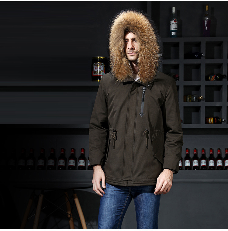 4 Fur Winter Jackets Mens Super Warm Parkas Camel Hairs Filling with Raccoon Hood big fur winter coat thicken parka