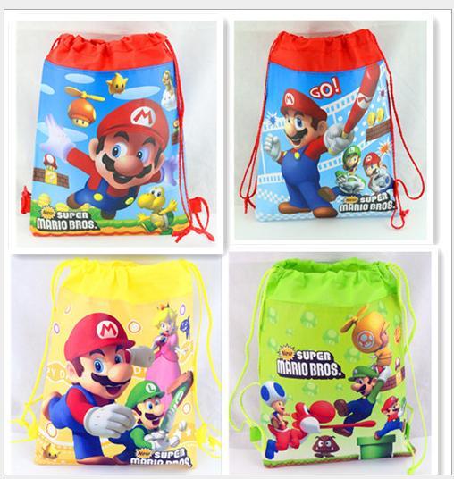 1pc Super Mario Non-woven Children Swim Drawstring Bag Kids Gift