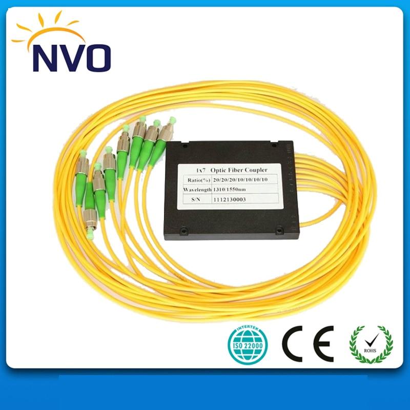 GPON System 1*7,1310/1550NM,Dual Window,1M,2.0MM Fiber Optical FBT Coupler with FC/UPCGPON System 1*7,1310/1550NM,Dual Window,1M,2.0MM Fiber Optical FBT Coupler with FC/UPC