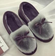 2016 Winter Warm Indoor Christmas Women's At Home Floral Slippers Warm Plush Home Slipper ok