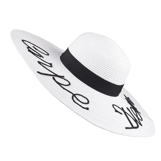 b97a1b1edfb 2018 Summer Women Sun Hat Ladies Wide Brim Straw Hats Foldable Beach Panama  Hats Church Hat