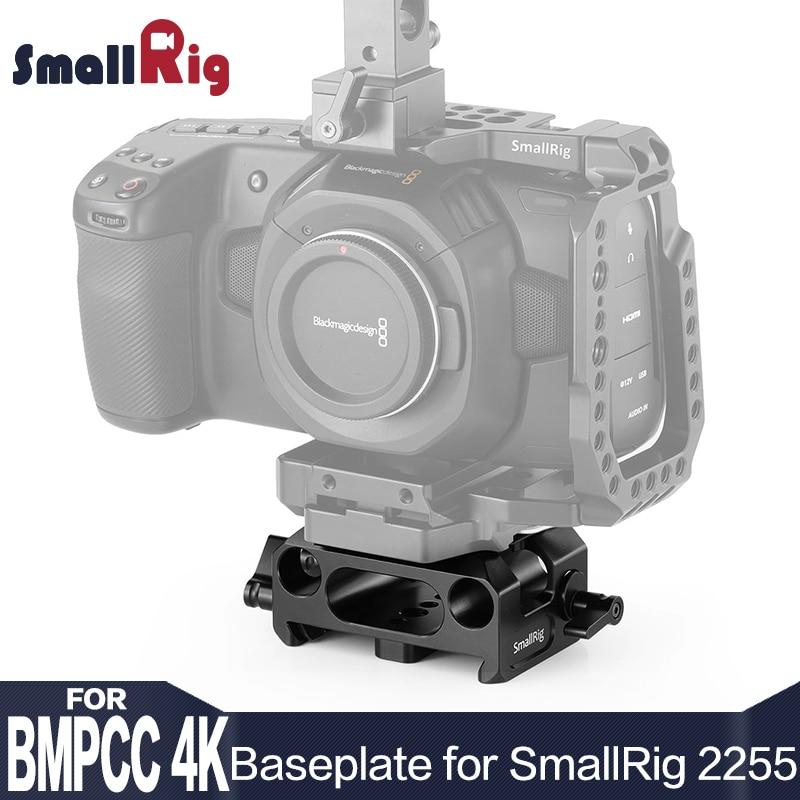 SmallRig Grondplaat voor Blackmagic Design Pocket Cinema Camera 4 K/6 K (SmallRig Kooi 2255 Compatibel Alleen) DSLR Camera Plaat 2267-in Statiefmonopods van Consumentenelektronica op  Groep 1