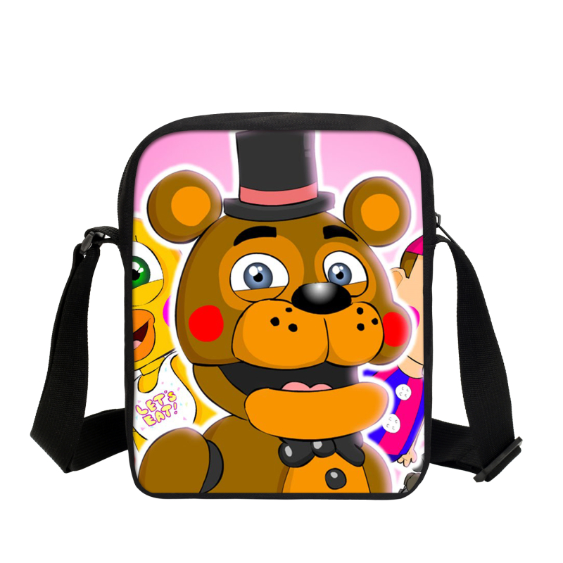 2017 Cute Cartoon Five Nights At Freddy School Bags For Children Schoolbag For Boys Girls Mochila Kids Shoulder Book Bag Gifts