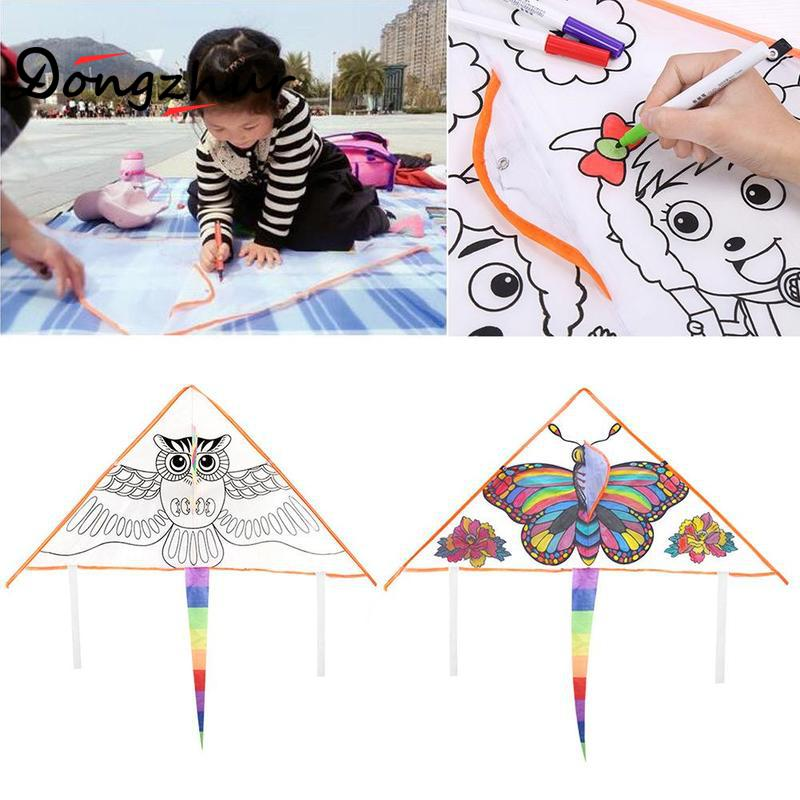 Dongzhur Outdoor Fun Sports DIY Kite / Children Kite / Education Kite With Handle And line Good Flying YKJ1269 конструктор waveplay fun and education 42 элемента 79 b