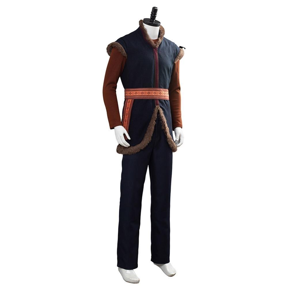Anime reine des neiges Prince Kristoff Cosplay Costume unisexe adulte chaud Costume pour Halloween carnaval fête - 5
