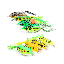 Thunder frog lure bait11cm14g Rubber silk  double hook multicolor fish bait fishing supplies