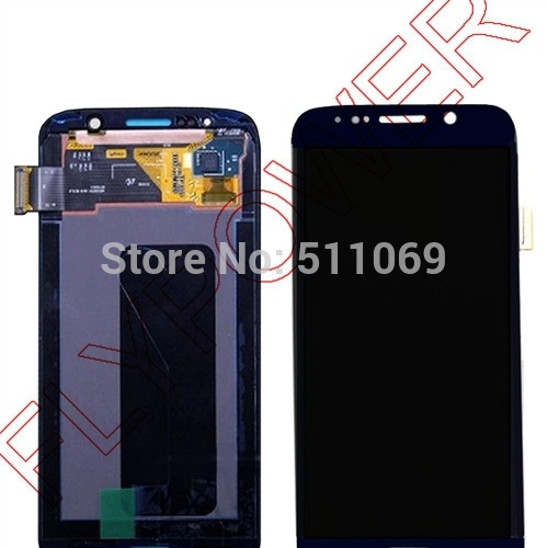 For Samsung for Galaxy S6 G9200 LCD Display Touch Screen Digitizer Assembly free shipping; Blue color;100% New;HQ;100% warranty