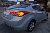 For Hyundai Elantra Spoiler ABS Material Car Rear Wing Primer Color Rear Spoiler For Hyundai Elantra Spoiler with LED 2012 2015