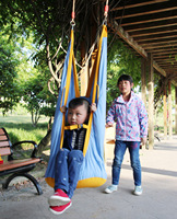 JY77 Outdoor Children Hammock Garden Furniture Swing Chair Indoor Hanging Seat Child Swing Seat Patio Portable Blue Furniture