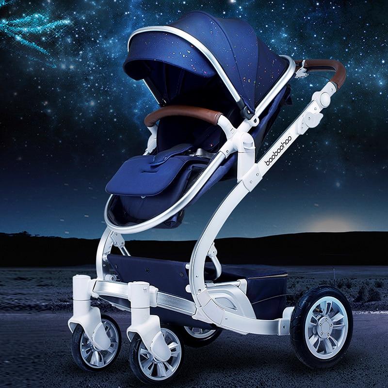 Bon bébé D8 poussette haut paysage, peut s'asseoir, mentir, se plier, amortisseurs poussettes enfant