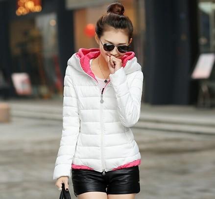 El envío gratuito! 2016 de las nuevas mujeres de invierno abrigos chaquetas de invierno cálido estilo delgado de manga larga caliente de la venta