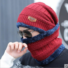 winter beanie burst knitted hat men's autumn and winter models two-piece ladies hats cap Winter men  winter hat balaclava