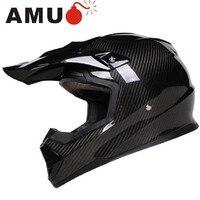 Darmowa wysyłka AMU lekki kask motocyklowy Carbon fiber profesjonalne Krzyż Kask ECE DOT zatwierdzony