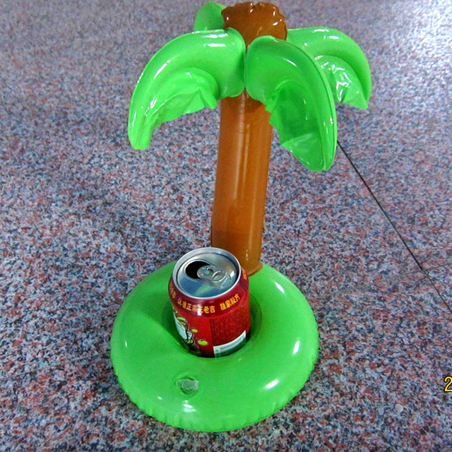 5pcslot Cute Inflatable Coconut Tree Beach Floating Drink Holder