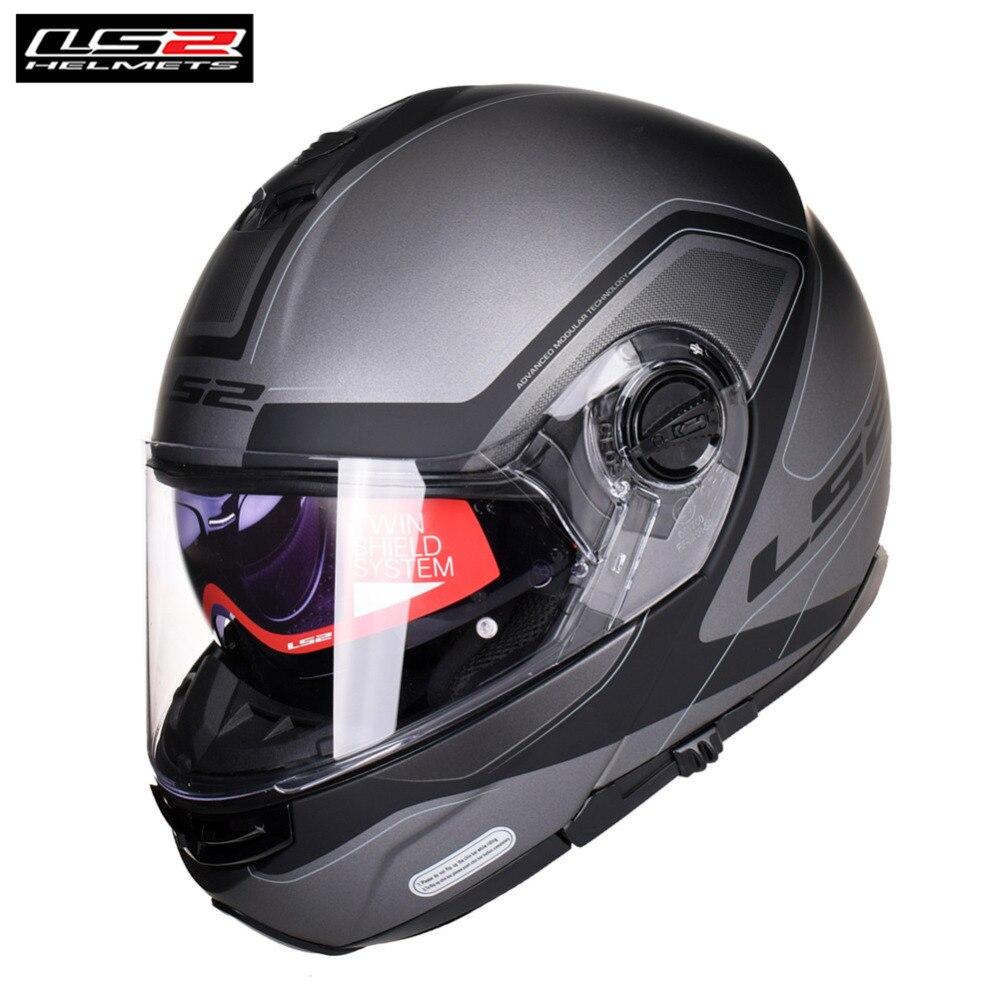 LS2 STROBE Motorcycle Helmet Modular Flip Up Capacete Casque Casco Open Moto Helm Kask Full Face Touring Helmets Motorbike цена 2017