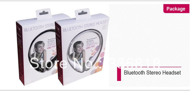 Free shipping DHL HBS-700 Wireless Bluetooth Stereo Headphones earphone headset with mic for cellphone HOTSELL G  50pcs/lot