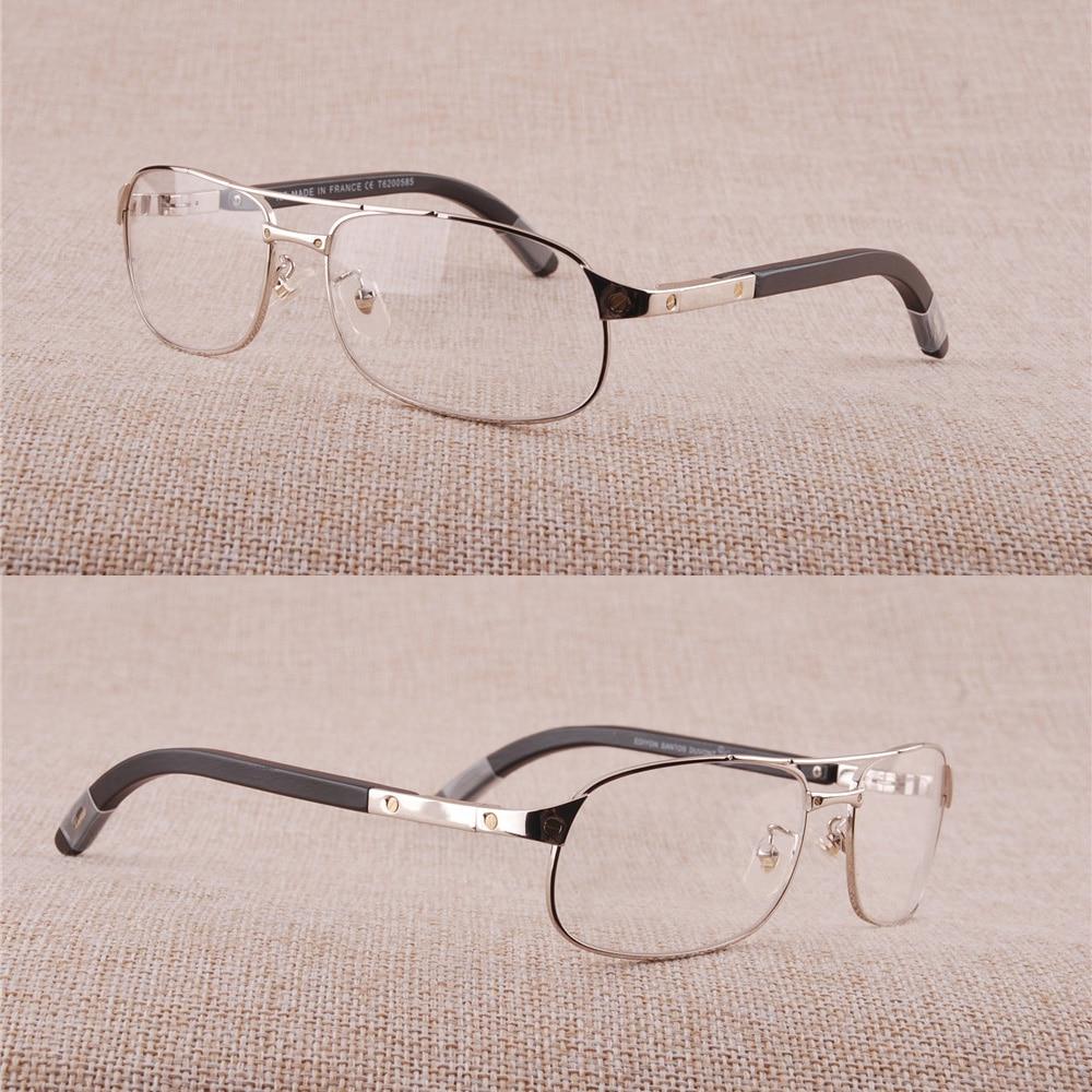 Ordelijk Vazrobe Brilmontuur Mannen Merk Brillen Man Houten Been Recept Bril Goud Zilver Luxe Naam Lenzenvloeistof Hoge Kwaliteit