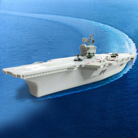 1 Pcs Plastic Aircraft Carrier Model Warship With 2 Helicopter & 4 Fighter Plane Military War Toys For Boys