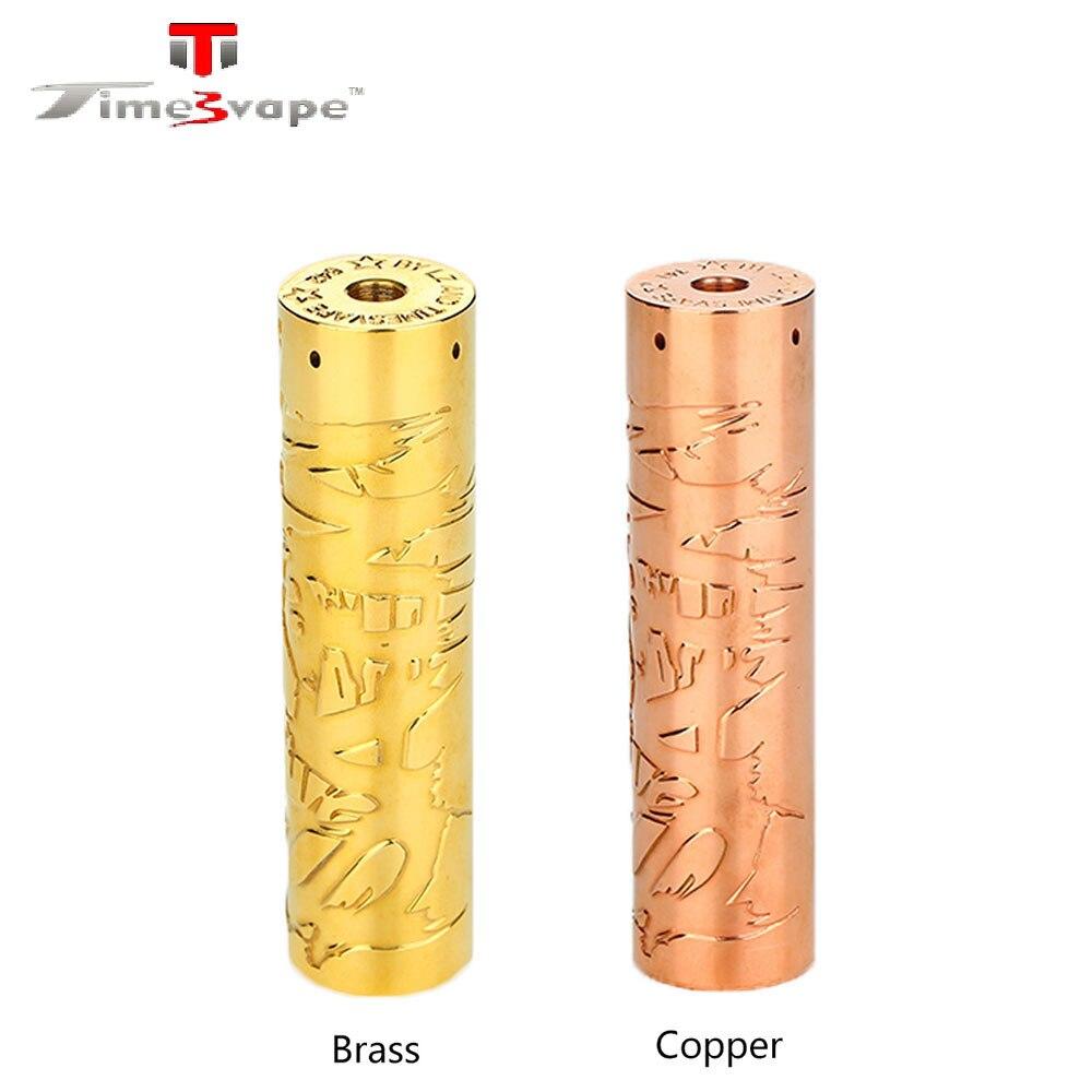 New Original Timesvape Saint Mech MOD Powered By 18650/20700/21700 Battery Brass and Copper Material Vape Mod VS Elite Mech Mod цены онлайн