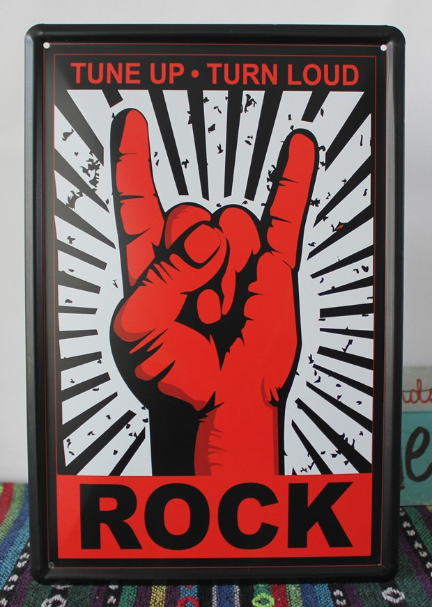 Direct selling YBY058 ROCKTin sign tinplate vintage metal painting for home cafe bar pubs decoration 20x30cm