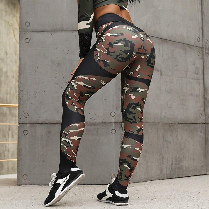 NORMOV Workout   Leggings   Women Print Fitness High Waist   Leggings   Elastic Push Up Trousers Fashion Female Slim Sexy Pant Plus Size