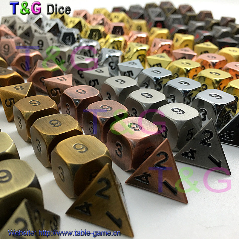 цены  Metal Elven Dice Set of 10 for Role Playing Game