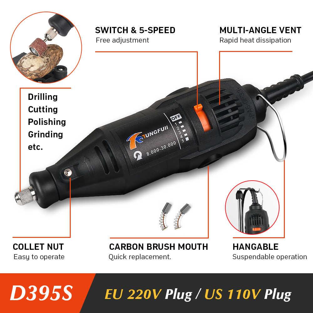Tungfull Mini perceuse 130W perceuse 30000 tr/min vitesse Variable outils rotatifs graveur électrique pour Dremel 4000 3000