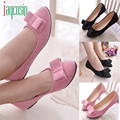 High quality Women Ballet Shoes Work Flats Bow Tie Slip Shoes Boat Comfortable Shoes 170224